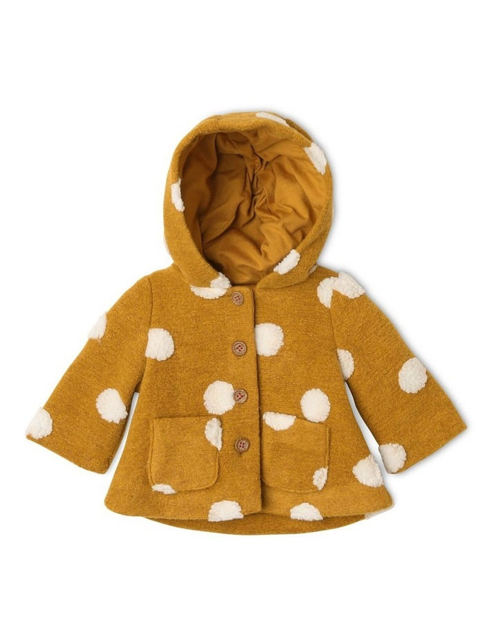 Izzie Fluffy Spot Jacket with Hood image 1