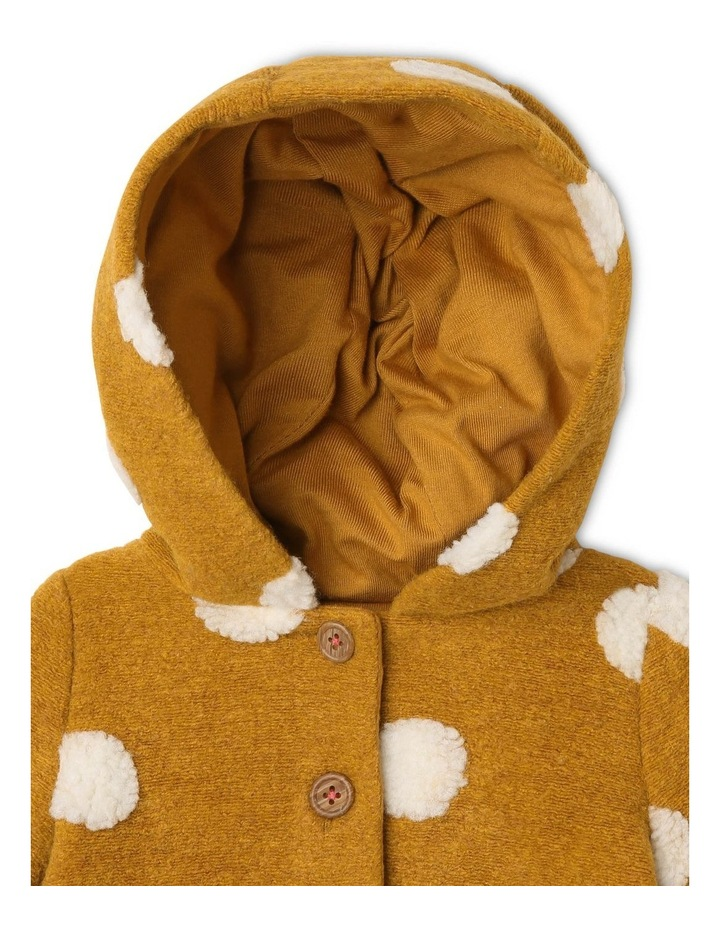 Izzie Fluffy Spot Jacket with Hood image 2