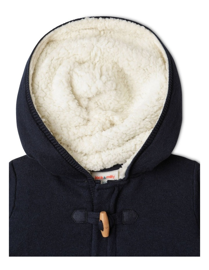 Scooter Knitted Hooded Jacket Navy image 3
