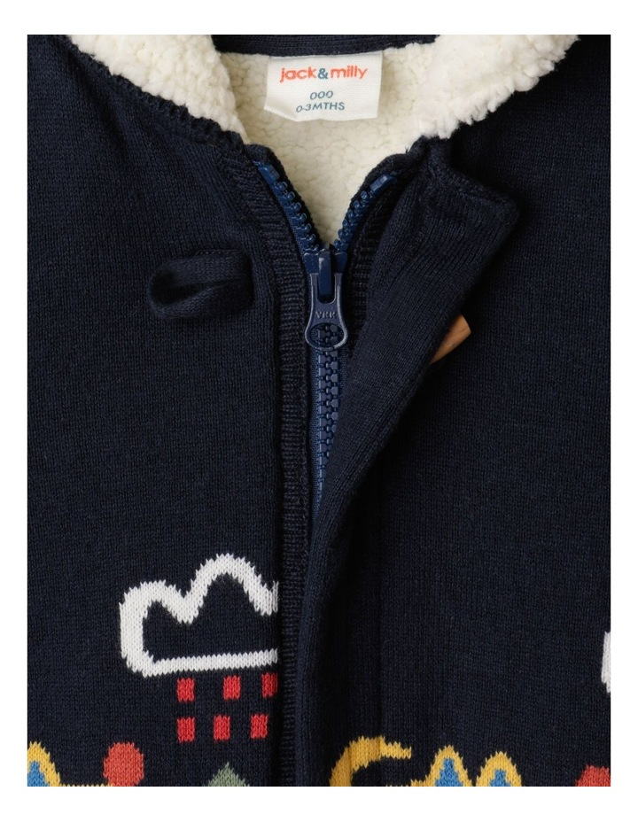 Scooter Knitted Hooded Jacket Navy image 5