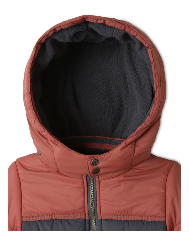 Ethan Charcoal Spliced Puffer Jacket image 3