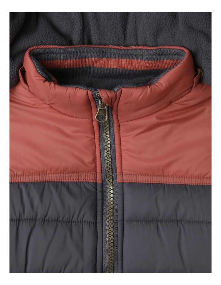 Ethan Charcoal Spliced Puffer Jacket image 5