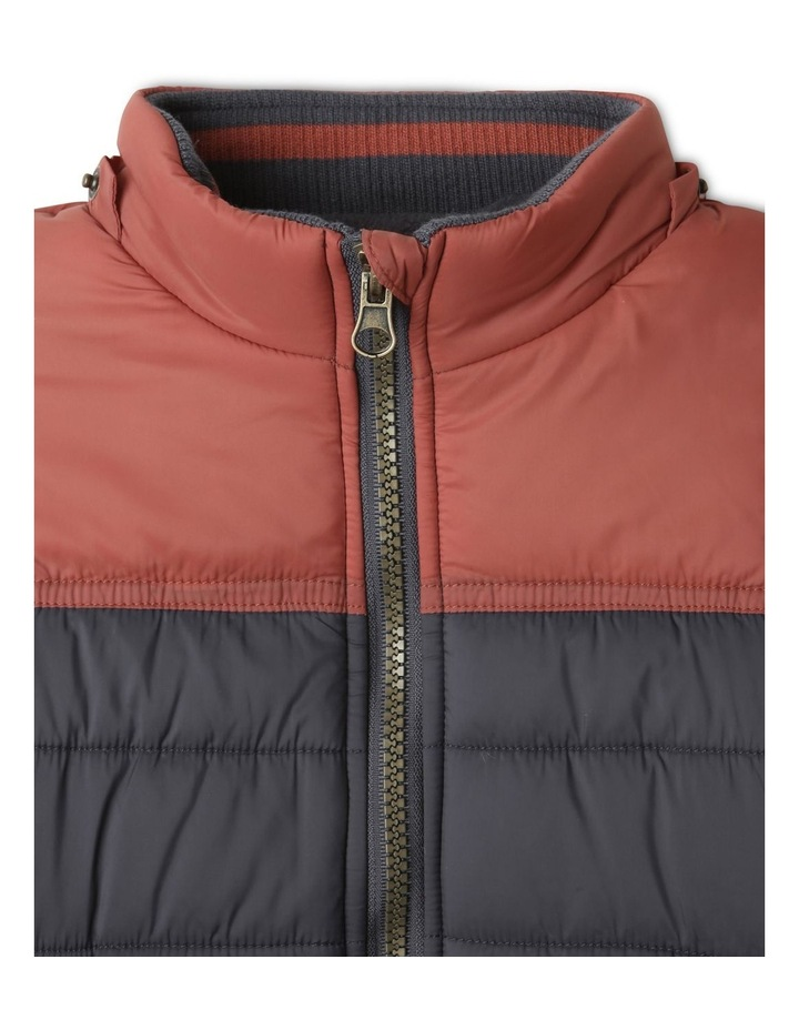 Ethan Charcoal Spliced Puffer Jacket image 6