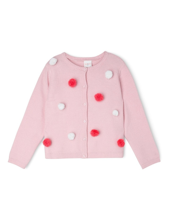 Josie Button Front Cardigan With Pom Poms image 1