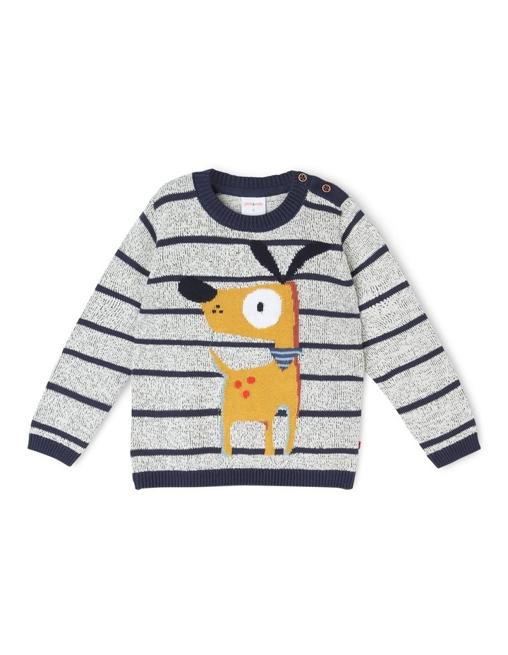 Ollie Knitted Jumper with Intarsia image 1