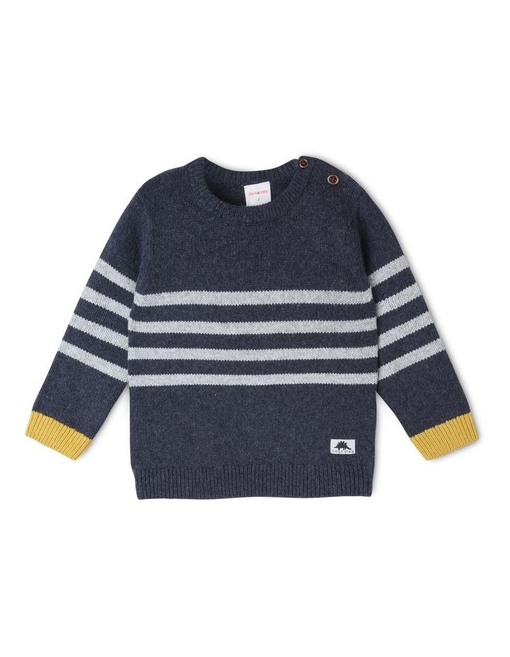 Finn Knitted Stripe Jumper image 2
