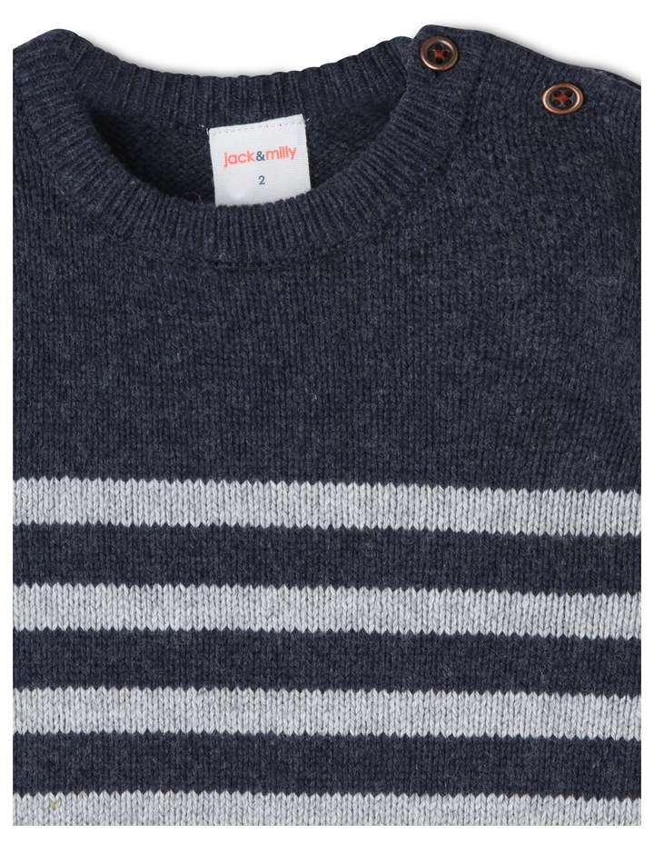 Finn Knitted Stripe Jumper image 5