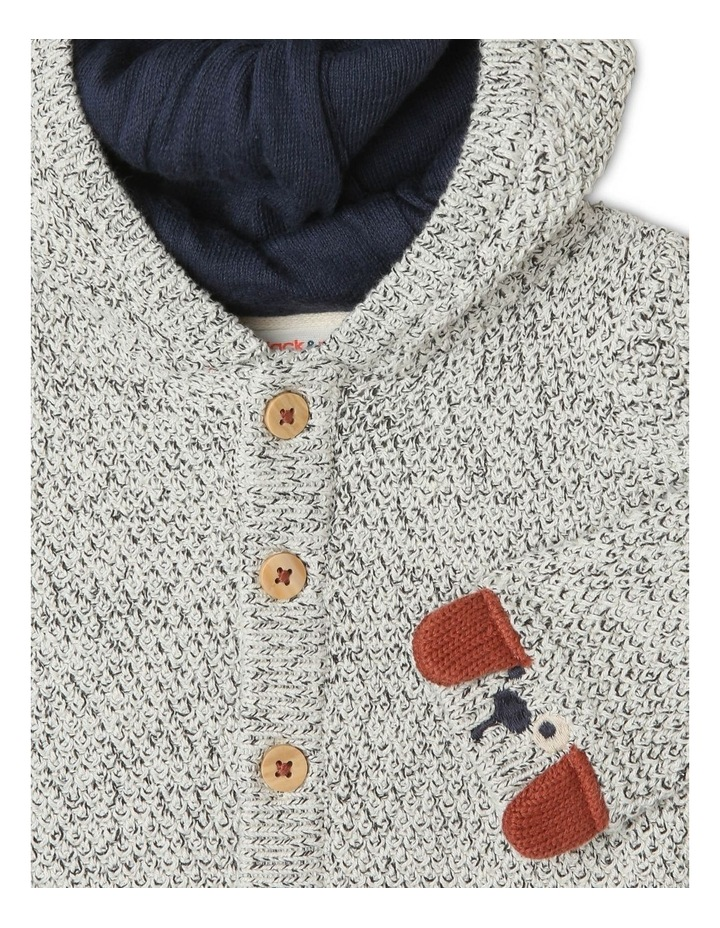 Teddy Novelty Cardigan with 3D Puppy Face Detail image 2