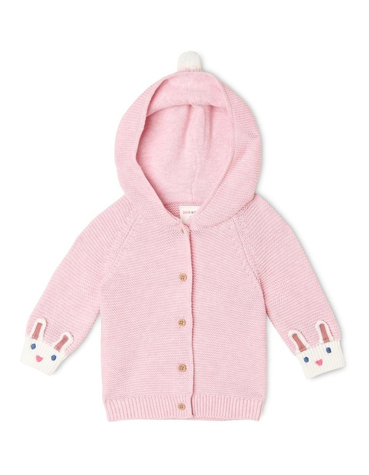 Gigi Novelty Cardigan with Bunny Face Detail image 1