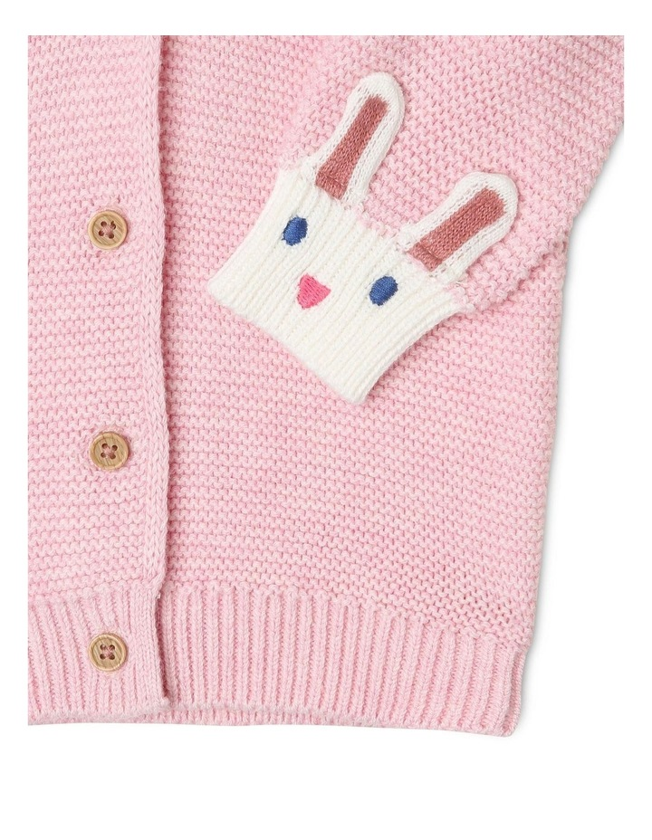 Gigi Novelty Cardigan with Bunny Face Detail image 2