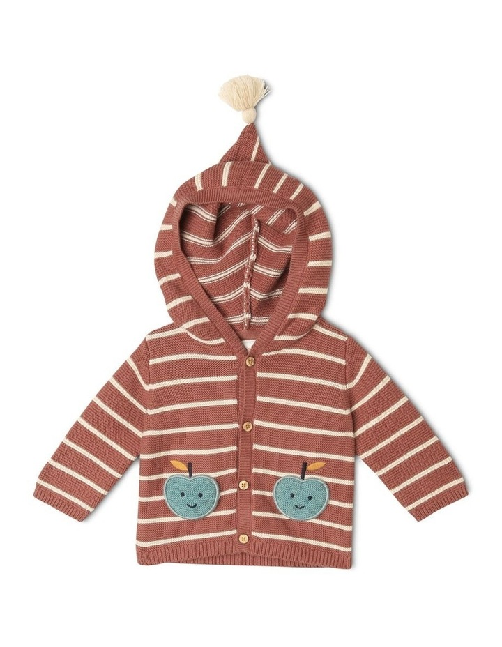 Miles Knitted Stripe Cardigan With Apple Pockets image 1