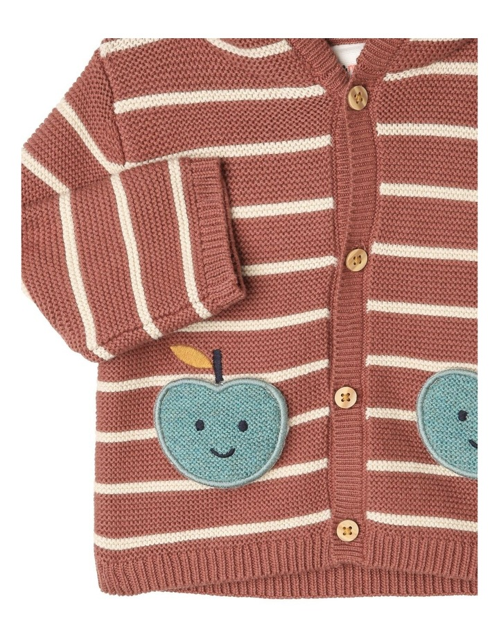 Miles Knitted Stripe Cardigan With Apple Pockets image 2