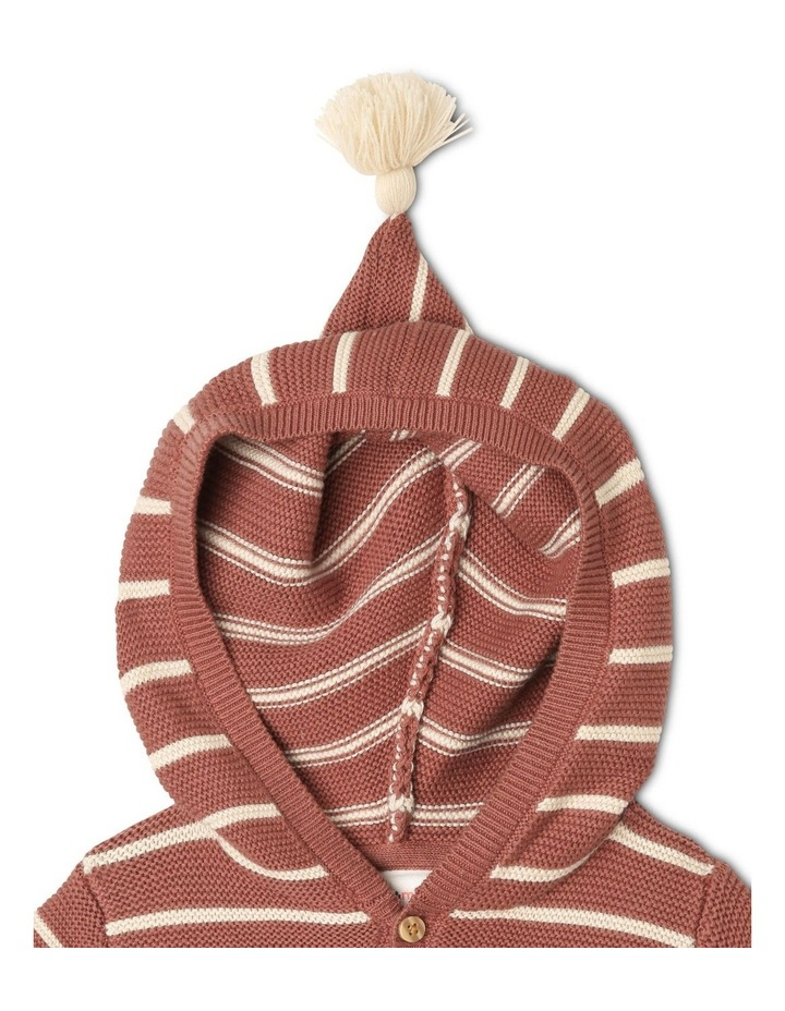 Miles Knitted Stripe Cardigan With Apple Pockets image 3