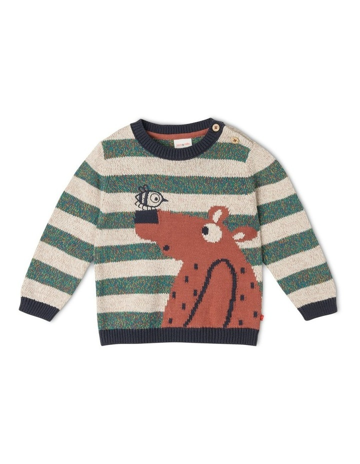 Intarsia Tom Knit Jumper With Bear image 1