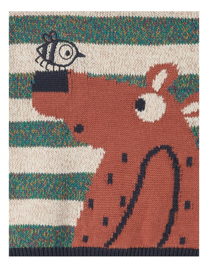 Intarsia Tom Knit Jumper With Bear image 2