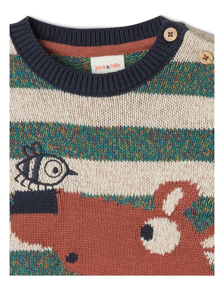 Intarsia Tom Knit Jumper With Bear image 3
