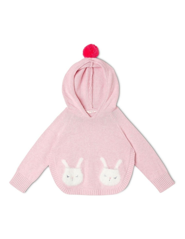 Clementine Hooded Poncho With Bunny Pockets image 1