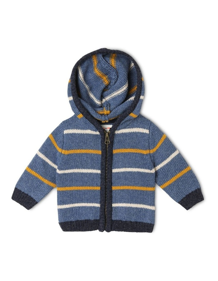 Cass Stripe Zip Hooded Cardigan image 1
