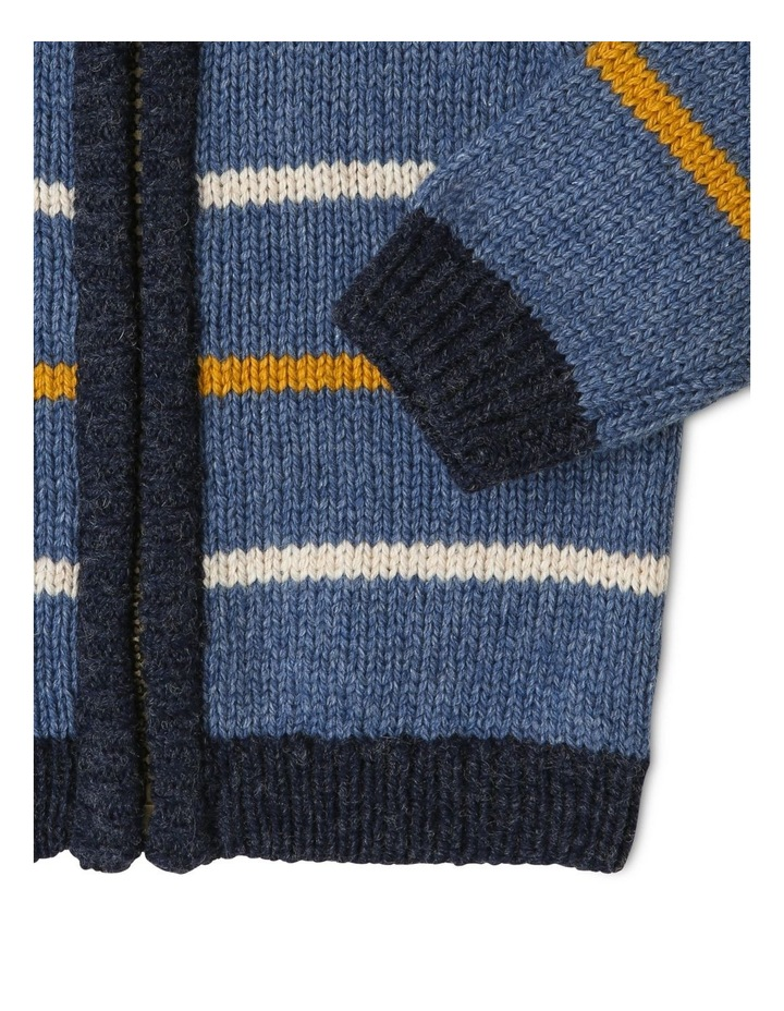 Cass Stripe Zip Hooded Cardigan image 3