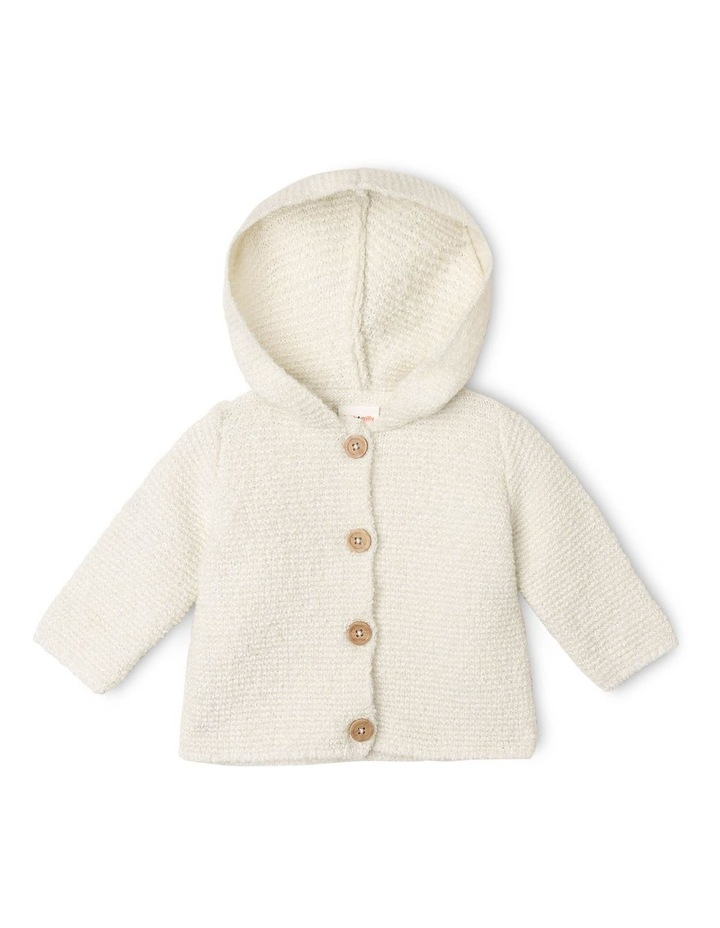Masiy Soft Curly Knit Cardigan with Hood image 1