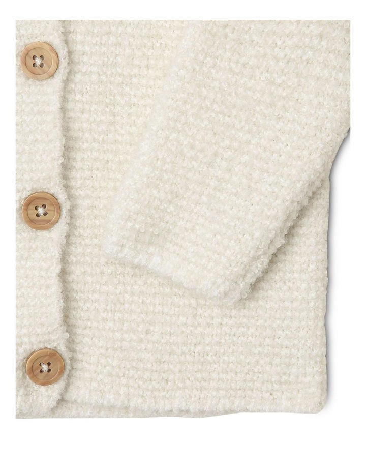 Masiy Soft Curly Knit Cardigan with Hood image 2