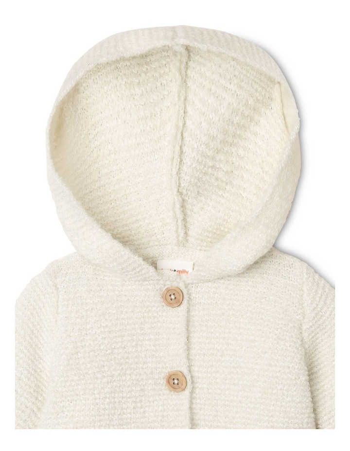 Masiy Soft Curly Knit Cardigan with Hood image 3