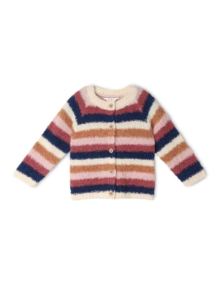 Daisy Knitted Boucle Stripe Cardigan image 1