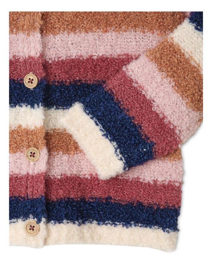 Daisy Knitted Boucle Stripe Cardigan image 2