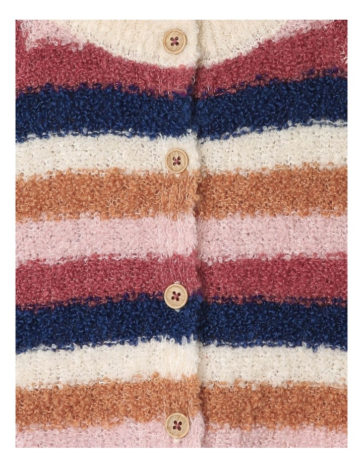 Daisy Knitted Boucle Stripe Cardigan image 3