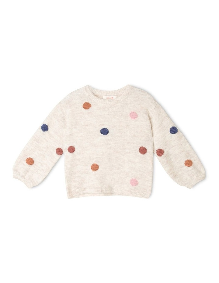 Queenie Knitted Jumper with 3D Spots image 1
