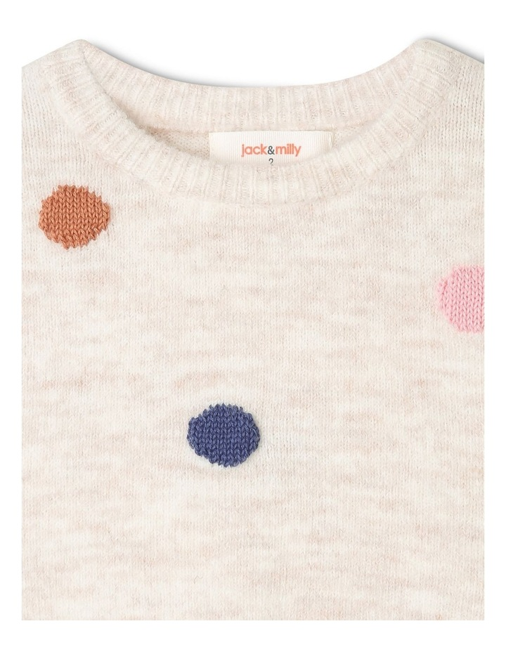 Queenie Knitted Jumper with 3D Spots image 2