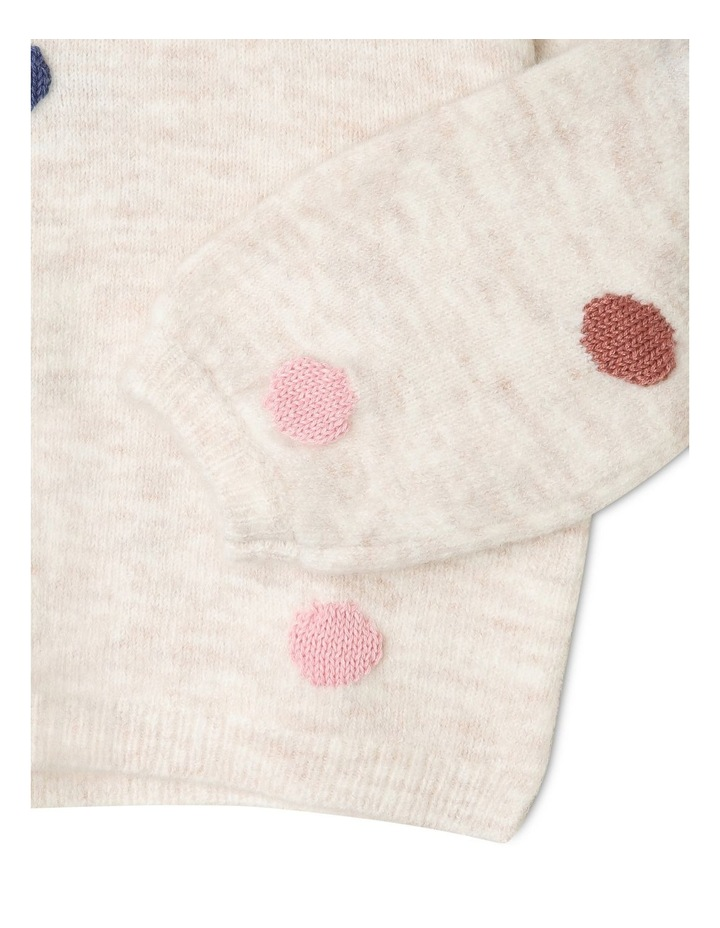 Queenie Knitted Jumper with 3D Spots image 3