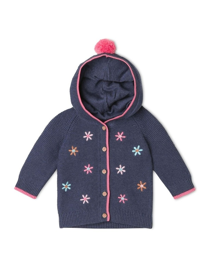 Katinka Knitted Cardigan with Embroidered Flowers image 1