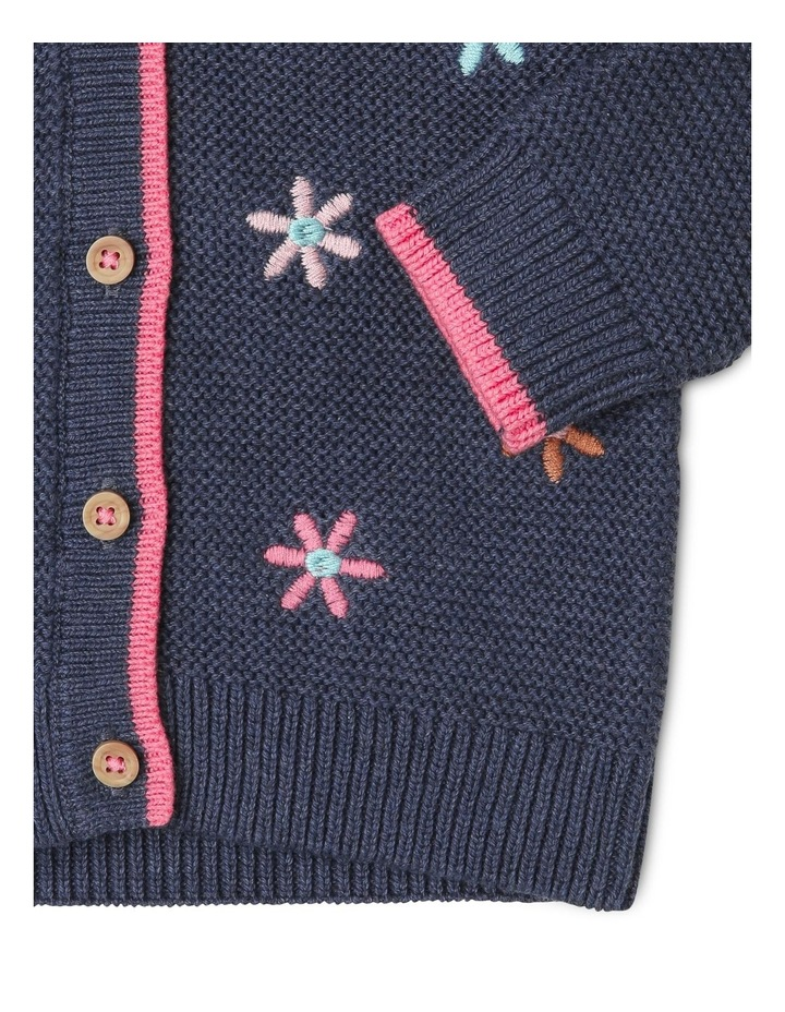 Katinka Knitted Cardigan with Embroidered Flowers image 2