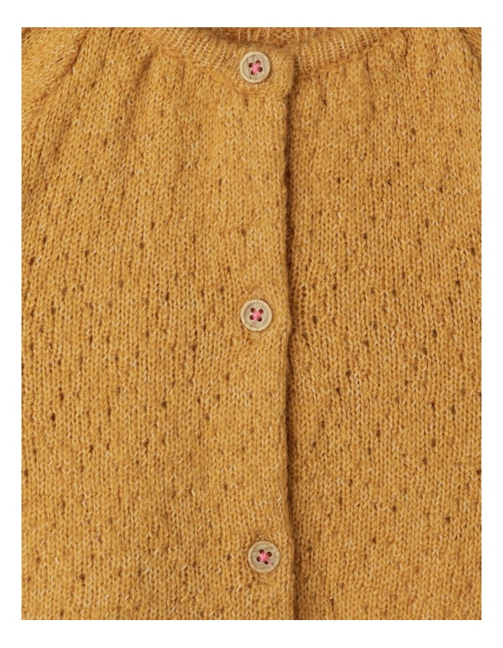 Ava Long Sleeve Knitted Pointelle Cardigan image 2