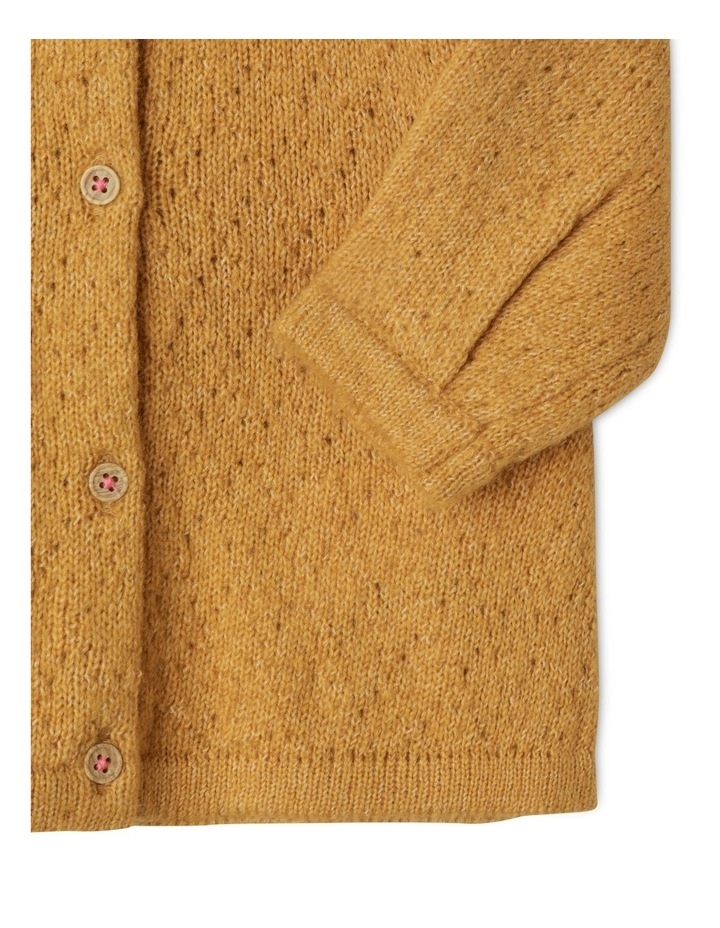 Ava Long Sleeve Knitted Pointelle Cardigan image 3