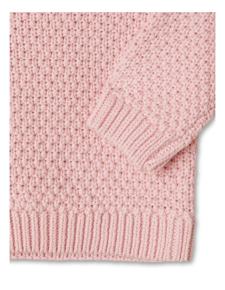 Gigi Knitted Jumper With Woven Brodier Frill image 3