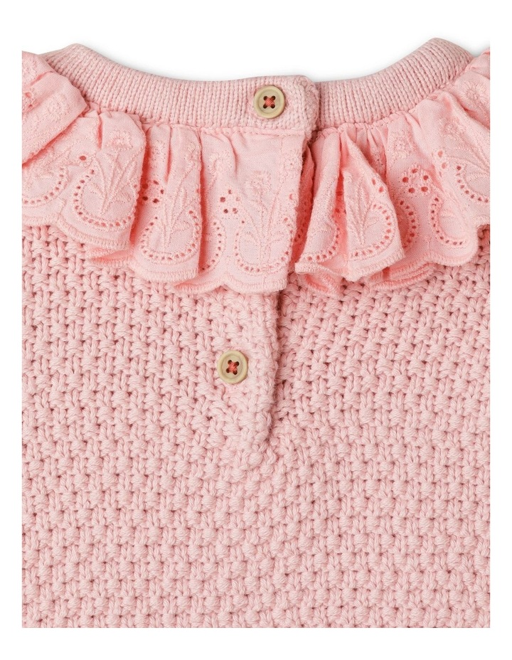 Gigi Knitted Jumper With Woven Brodier Frill image 5