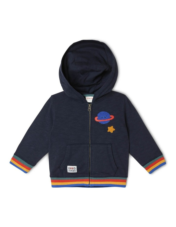 Floyd Brushed Fleece Zipped Hoodie image 1
