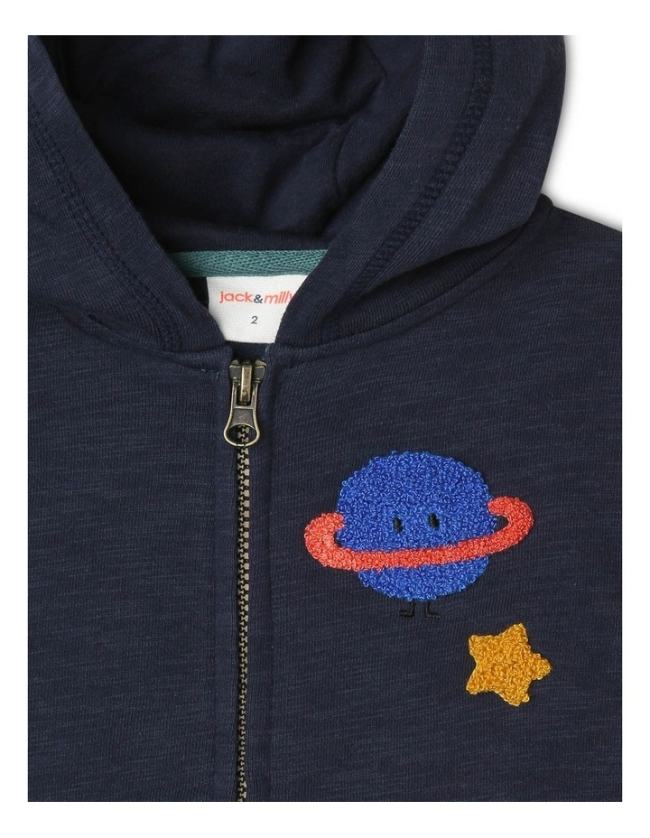 Floyd Brushed Fleece Zipped Hoodie image 2