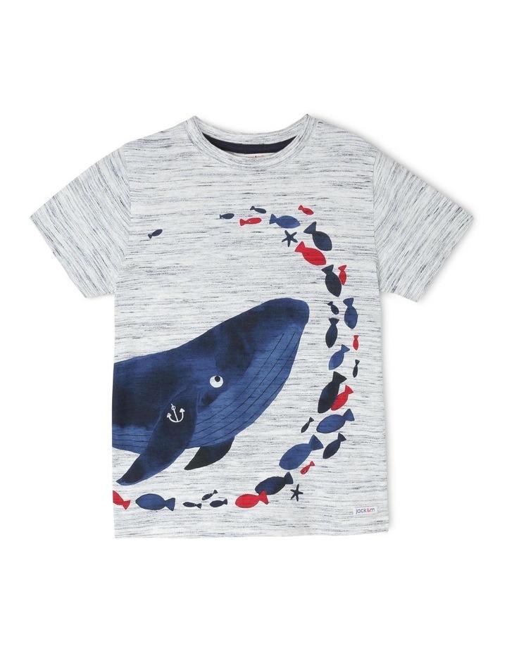 Hugo Short-Sleeve T-Shirt with Wraparound Whale Print image 1