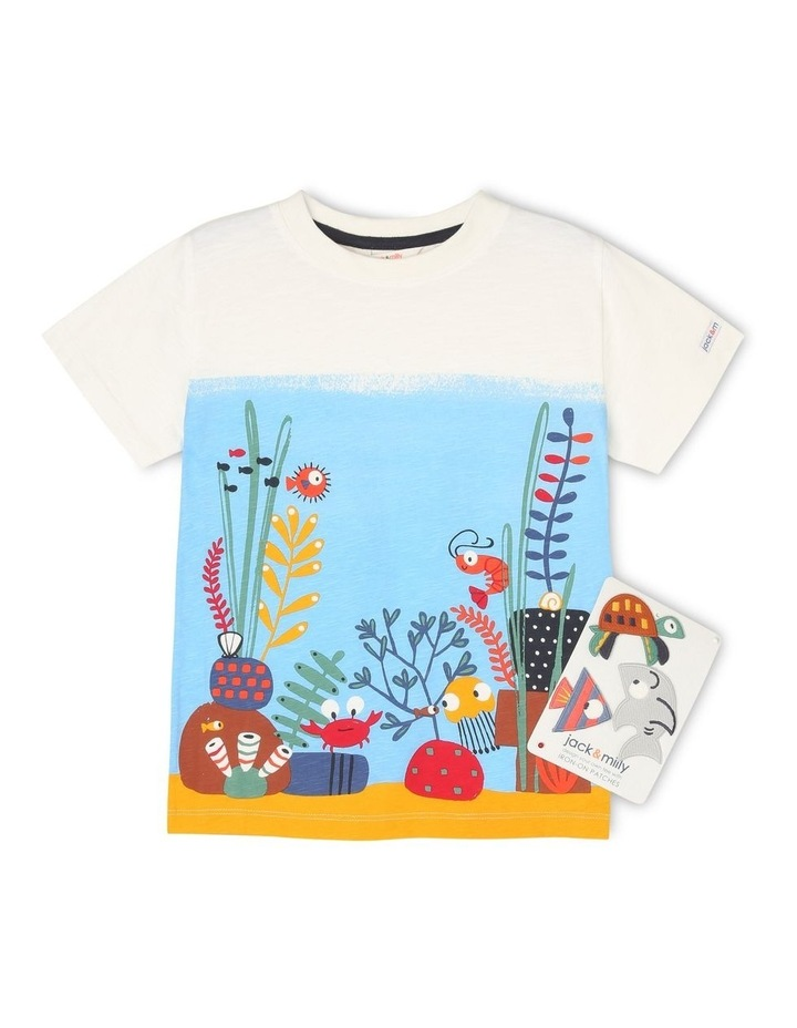Iron On Patches Short Sleeve T-Shirt image 1
