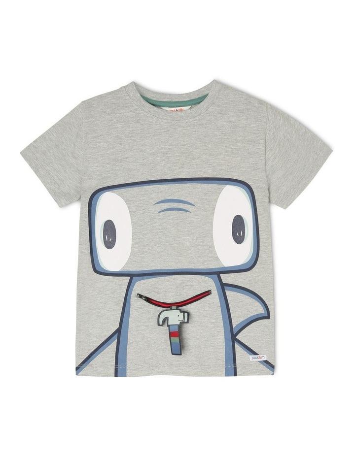'Hugo' Short-Sleeve T-Shirt - Hammerhead Zip-Mouth image 1