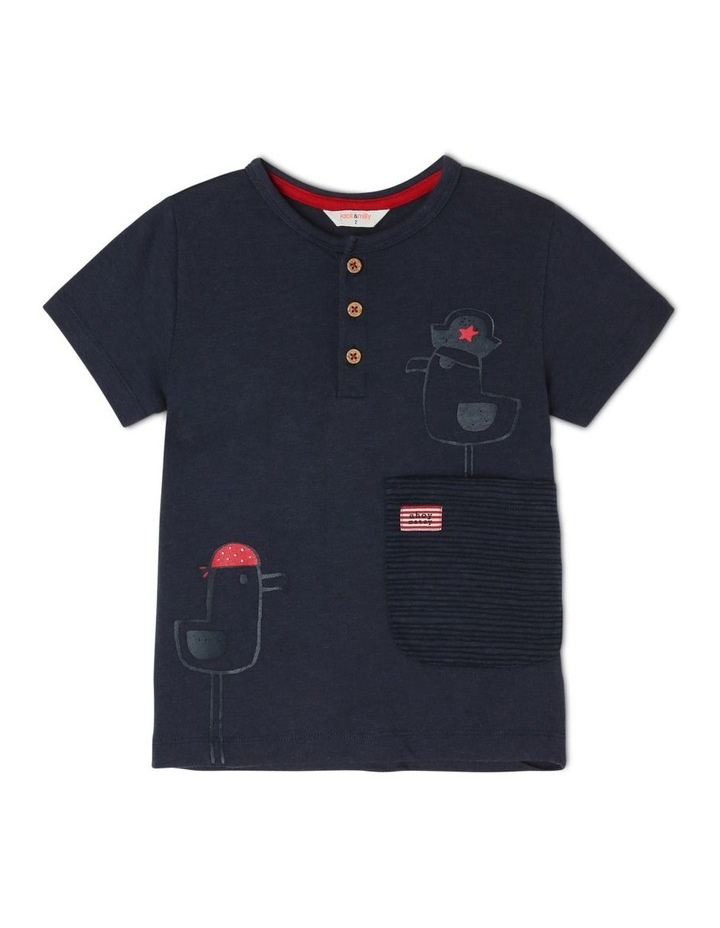Spencer Short Sleeve Henley T-Shirt image 1