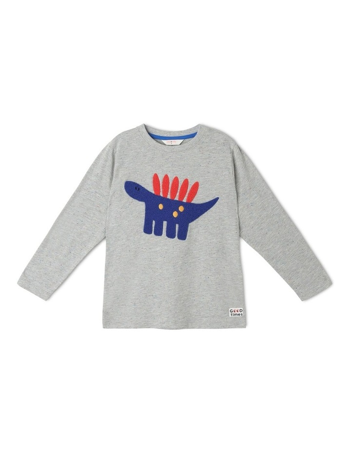 Rocket Long Sleeve Tee with Boucle Stegasaurus image 1
