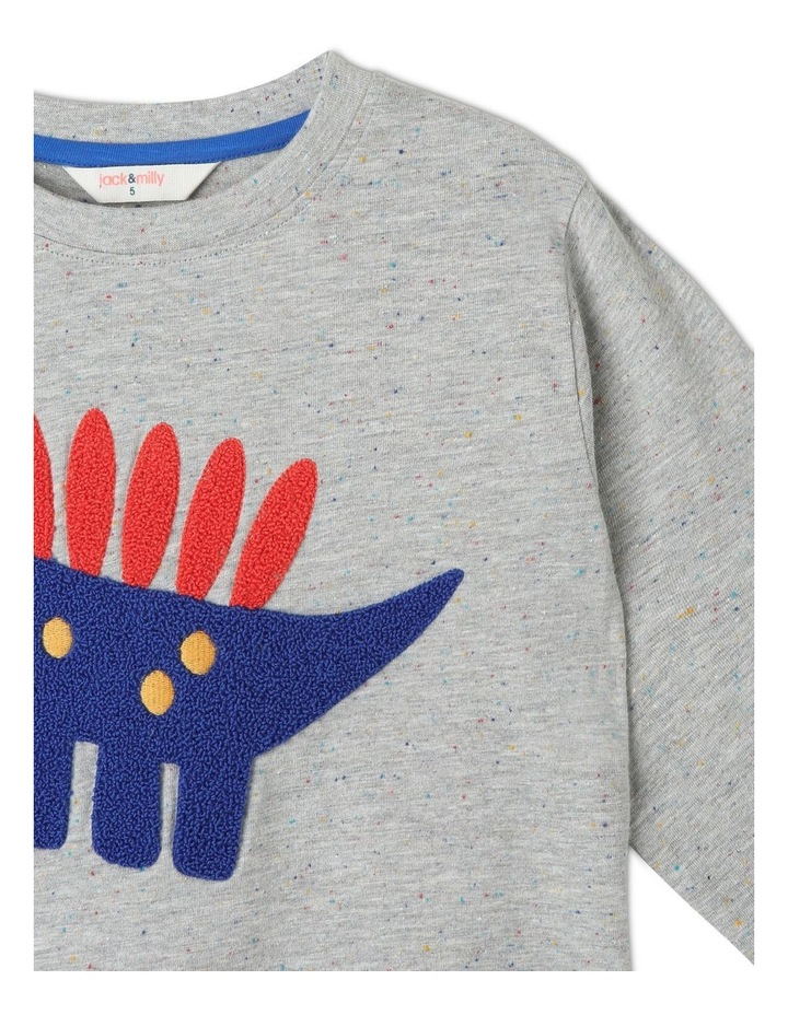 Rocket Long Sleeve Tee with Boucle Stegasaurus image 2