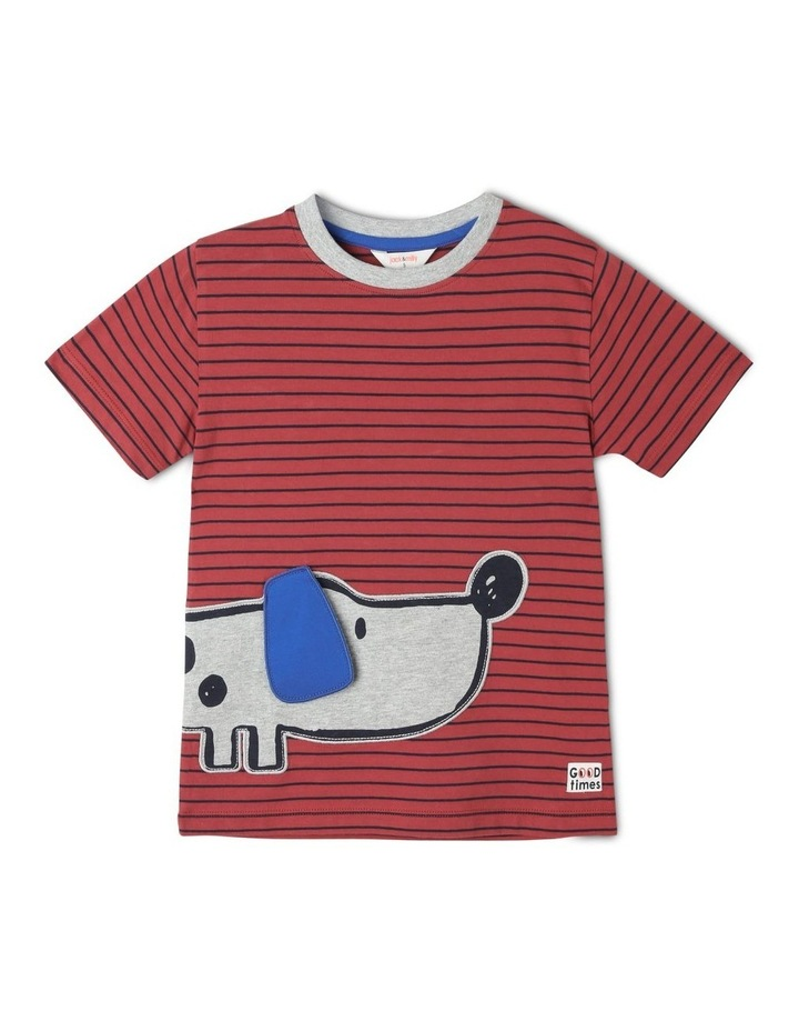 Fred Short Sleeve Tee with 3D Applique Dog image 1