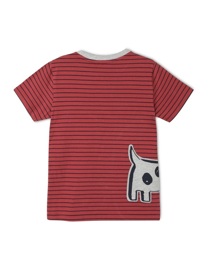 Fred Short Sleeve Tee with 3D Applique Dog image 2