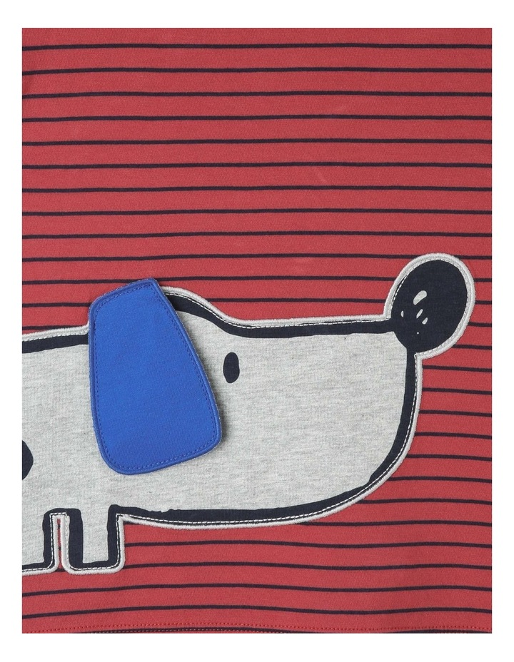 Fred Short Sleeve Tee with 3D Applique Dog image 3