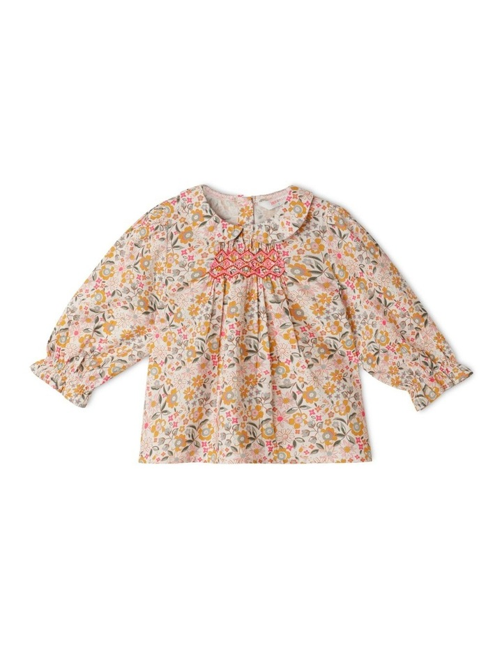 Clara Organic Woven Blouse With Peter Pan Collar image 1